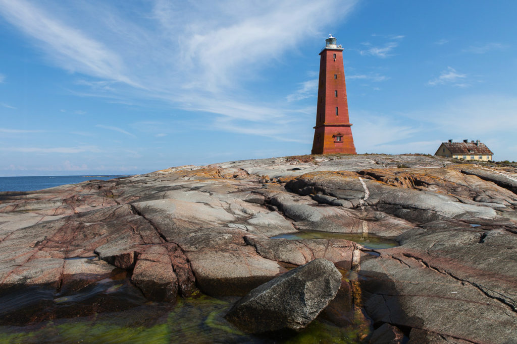 View of lighthouse in the Baltic Sea
